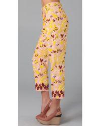 Tibi - Yellow Ankara Pant - Lyst
