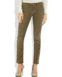 Vince | Brown Mid-rise Corduroy Skinny Jeans | Lyst