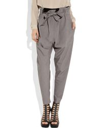 Vivienne Westwood Anglomania   Gray Kung Fu Twill Pants   Lyst