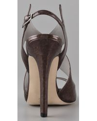 Camilla Skovgaard - Brown Cross Wing High Heel Sandals - Lyst