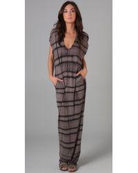 Raquel Allegra - Gray Caftan Long Dress - Lyst