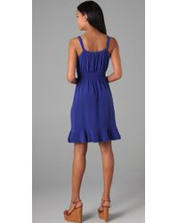 Rebecca Taylor | Blue Ruffle Front Cami Dress | Lyst