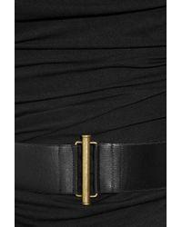 Donna Karan | Black Cowl-neck Stretch-jersey Dress | Lyst