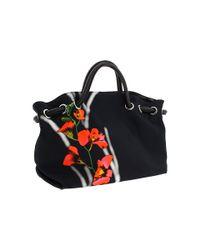Furla | Black Carmen with Flower | Lyst