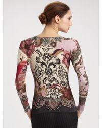 Etro - Multicolor Silk/cashmere Floral Sweater - Lyst