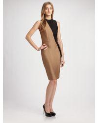Martin Grant | Black Asymmetrical Bi-color Dress | Lyst