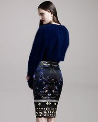 Givenchy | Black Panther-print Pencil Skirt | Lyst