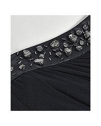 Laundry by Shelli Segal - Blue Inkblot Draped Jersey Embellished One Shoulder Dress - Lyst