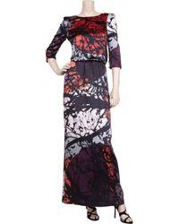 Tibi - Red Forest-print Silk Maxi Dress - Lyst