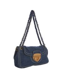 Prada | Blue Denim Shoulder Bag | Lyst