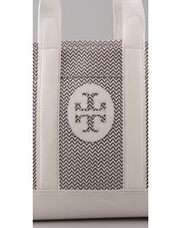 Tory Burch | White Beach Patterned Straw Tote | Lyst