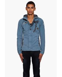 G-Star RAW | Gray New Recolite Hooded Jacket for Men | Lyst