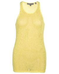 Vince | Yellow Loose-knit Tank Top | Lyst