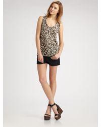 Joie | Brown Delanna Leopard Slub Tank | Lyst