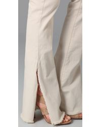 Textile Elizabeth and James | White Stewart Flare Jeans | Lyst