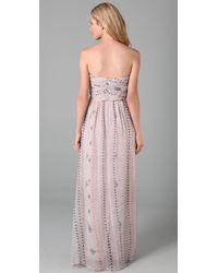 Twelfth Street Cynthia Vincent - Pink Mayan Shirred Corset Maxi Dress - Lyst