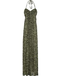 Antik Batik | Multicolor Manaos Zebra-print Silk Maxi Dress | Lyst