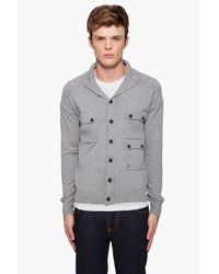 J.Lindeberg | Gray Cameo Utility Cardigan for Men | Lyst