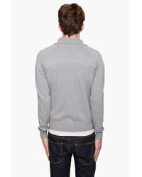 J.Lindeberg - Gray Cameo Utility Cardigan for Men - Lyst