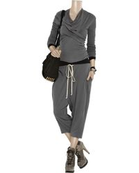Rick Owens Lilies - Gray Cropped Jersey Pants - Lyst