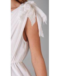 Alice + Olivia - White Carmen One-shoulder Draped Dress - Lyst