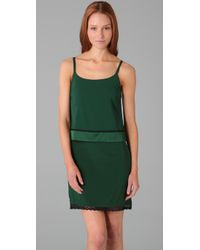 Alice + Olivia | Green Tita Layered Slip Dress | Lyst