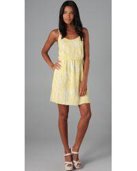 Alice + Olivia | Yellow Elizabeth Tank Dress | Lyst