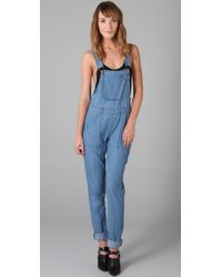 Bec & Bridge | Blue Amelie Chambray Overalls | Lyst