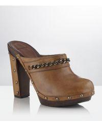 Carvela Kurt Geiger | Brown Abba Leather Clog | Lyst