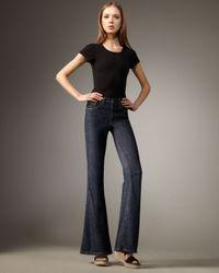 Current/Elliott | Blue High-waist Bell-bottom Patriot Jeans | Lyst