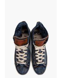DIESEL | Blue Expoiak Sneakers for Men | Lyst