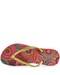 Havaianas | Slim Turkish - Red Rubber Thong Flip Flop | Lyst