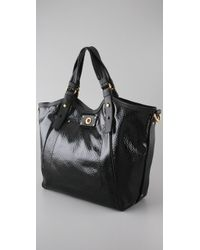 Marc By Marc Jacobs - Black Turnlock Shine Francesca Tote - Lyst