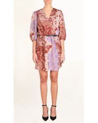 Tibi | Pink Swirl Paisley Wrap Dress | Lyst