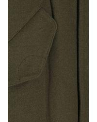VINCE | Green Wool-blend Hooded Anorak | Lyst