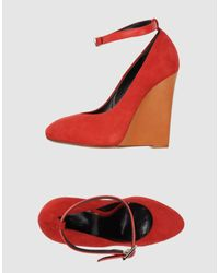 Celine | Red Wedge | Lyst