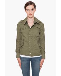 G-Star RAW | Green Officer Long Jacket | Lyst