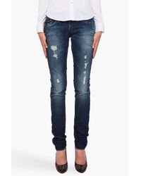G-Star RAW | Blue Ultra High Super Skinny Jean | Lyst