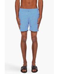 Orlebar Brown | Blue Bulldog Print Beach Shorts for Men | Lyst