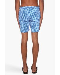 Orlebar Brown - Blue Bulldog Print Beach Shorts for Men - Lyst