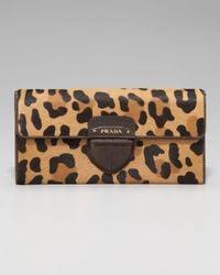 Prada | Multicolor Leopard-print Wallet | Lyst