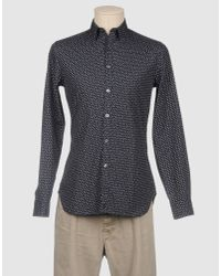 PS by Paul Smith - Blue Polka Dot Cotton Shirt for Men - Lyst