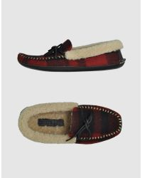 Polo Ralph Lauren | Red Mocassin Slipper for Men | Lyst