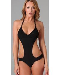 Tori Praver Swimwear - Black Reversible Mary Jane One Piece - Lyst