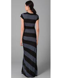 A.L.C. - Black Striped Paloma Long Dress - Lyst