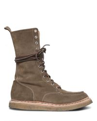 Balmain | Natural Beige Suede Ranger Boots with Velcro Fastener for Men | Lyst