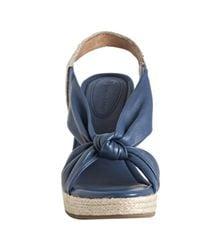 Corso Como - Blue Navy Leather and Jute Doze Espadrilles - Lyst