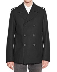 Dior Homme | Black Double Breasted Coat for Men | Lyst