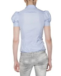 DSquared² - Blue Puff Sleeve Shirt - Lyst