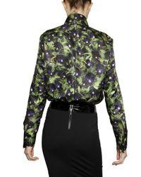 Givenchy | Black Pansy Shirt | Lyst